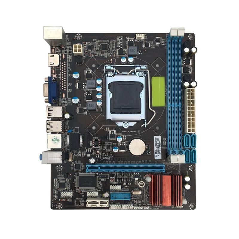 VKTECH H61 ordinateur de bureau ordinateur carte mère carte mère LGA 1155 broches CPU i3 i5 i7 Interface DDR3 USB2.0 SATA2 VGA HDMI carte mère