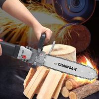 Multi function Portable Hand held Logging Chain Saw Adjustable Electric Chainsaw Electric Angle Grinder Woodworking Power Tools