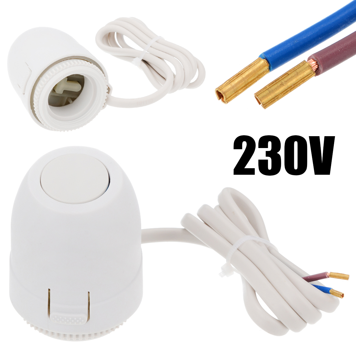 NC AC 230V Electric Thermal Actuator Manifold Floor Heating Valve Water Heating System Controller For Floor Heating Thermostat