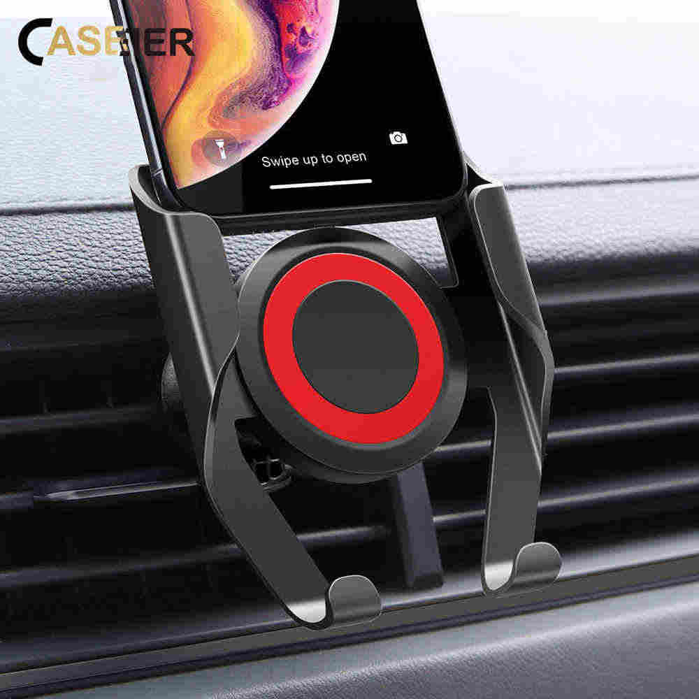 CASEIER Car Holder Stand In Car Air Vent Phone Holder For iPhone XR XS MAX 7 8 360 Rotation Cars Stand For Samsung Huawei Xiaomi