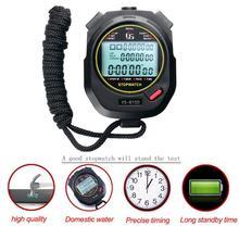 Профессиональный цифровой секундомер-таймер, Многофункциональный ручной тренировочный таймер, портативный, для занятий спортом на открытом воздухе, для бега, хронограф, секундомер