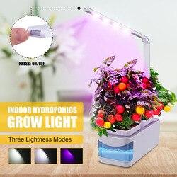 Inteligentny ogród ziołowy zestaw LED rosną światła hydroponicznych uprawy wielofunkcyjne biurko lampa rośliny ogrodowe kwiat namiot do uprawy hydroponicznej pudełko w Doniczki do sadzonek od Dom i ogród na