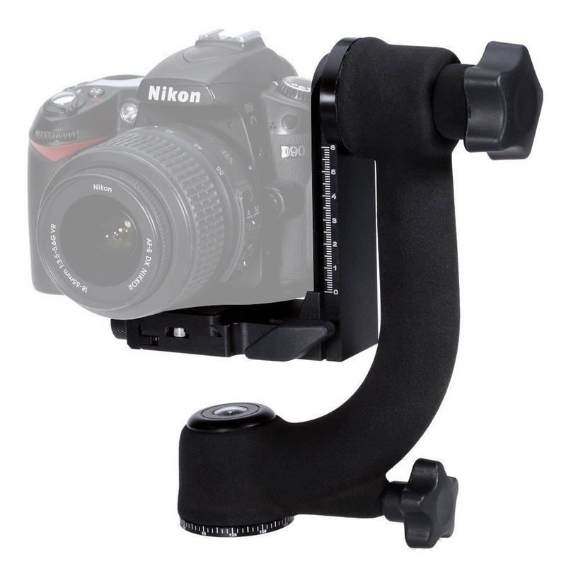 Professional Heavy Duty Métal Cardan Joby 360 Panoramique Trépied Rotule Pour Nikon Canon Sony Fujifilm DSLR Caméras