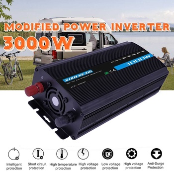3000W Modified Power Inverter 12/24/48/60/72V TO 220V Double LED Display