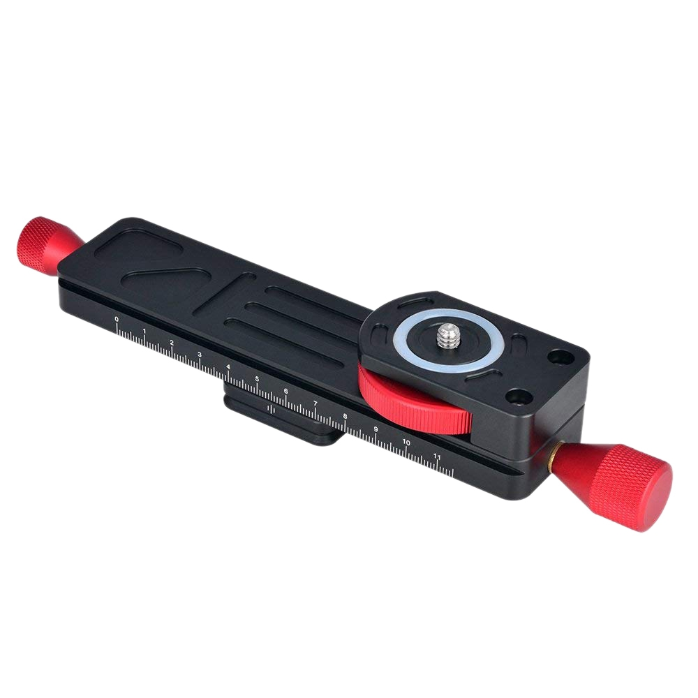 FFYY-All Metal Wormdrive Macro Rail Fine Focus Focusing Arca / Rrs Lever Clamp Compatible