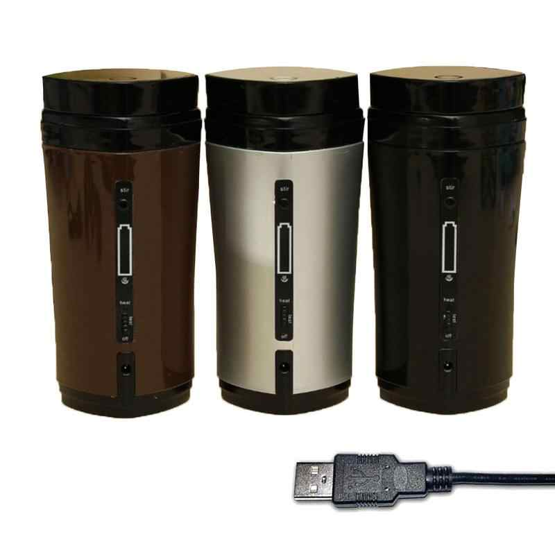 Hot sale 1PC Coffee Stirring Cup Automatic Stirring Cup Rechargeable Heating Insulation USB Coffee Heating Cup Drinkware