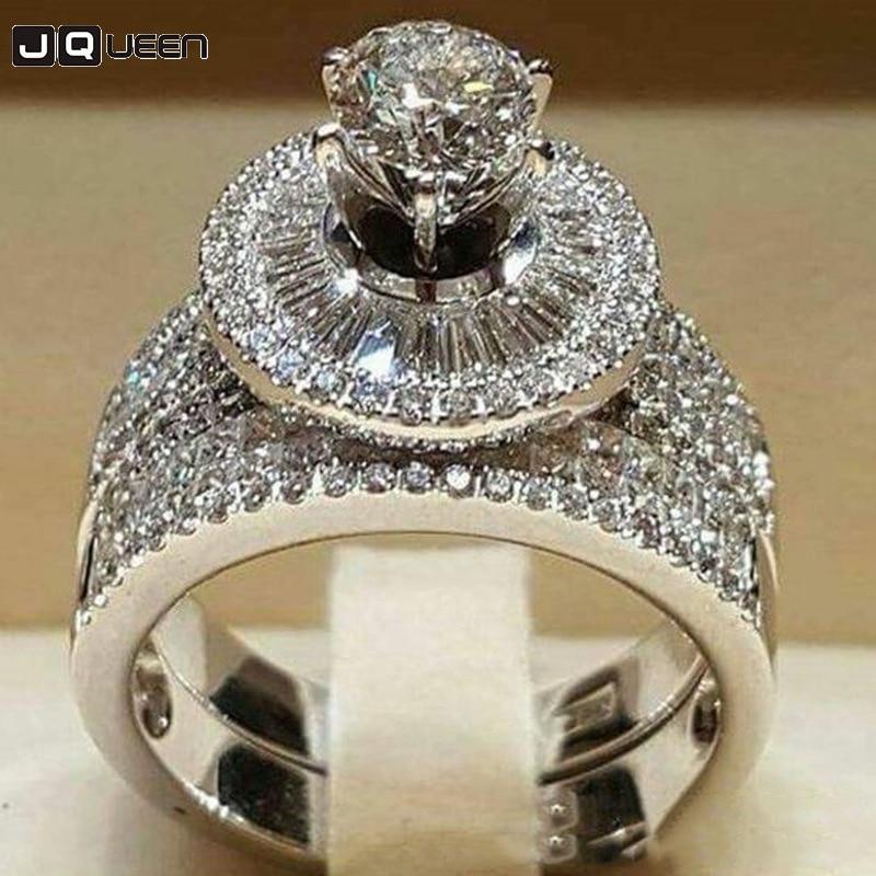 Crystal Big Queen Ring Set...