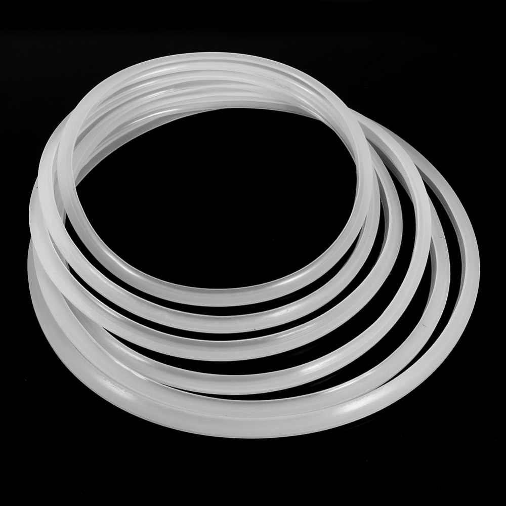 Cocina a presión de silicona blanca de 22/24/26/28/30/32cm, junta de goma, anillo de sellado, tapa de olla a presión, herramientas de cocina
