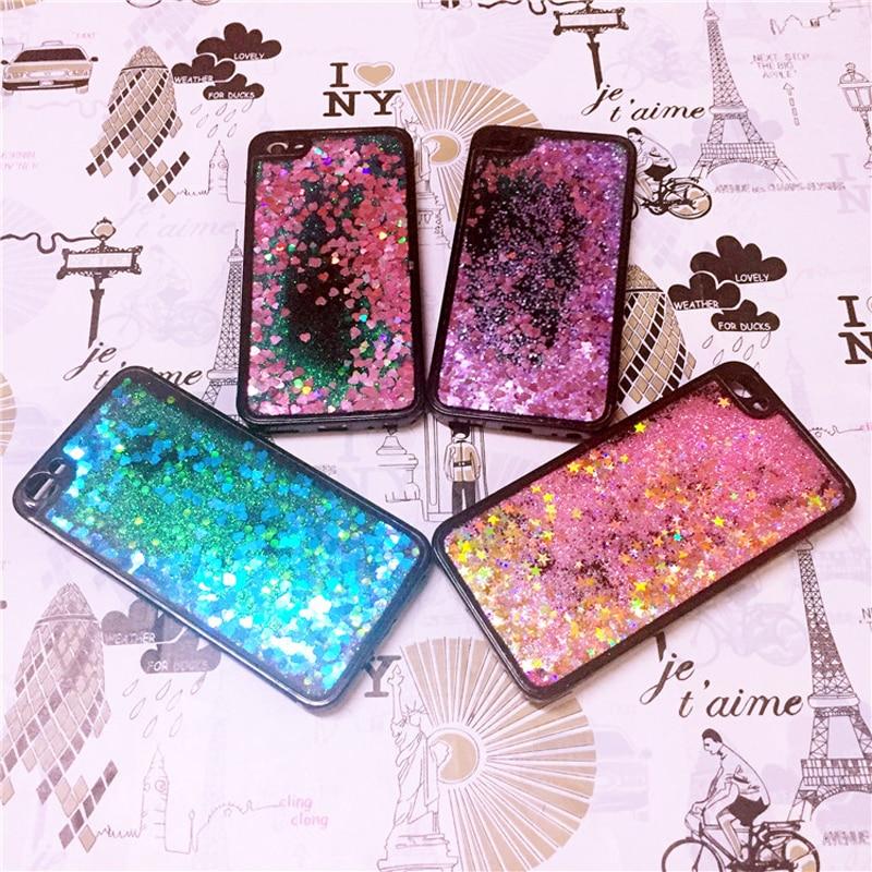 For Vivo V3 Max V3 Liquid Case Glitter Bling Quicksand Water Sand Soft Case Cover For Vivo V5 V5 Lite V5 Plus Case Coque Fundas Harmonious Colors Half-wrapped Case Phone Bags & Cases