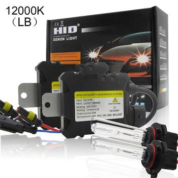 2Pcs 9005/HB3/H10 H1 Led Car Headlight Bulbs Kit Withwith Wiring Attached 3000k/4300k/5000k/6000k/8000k/10000k/12000k 55W image