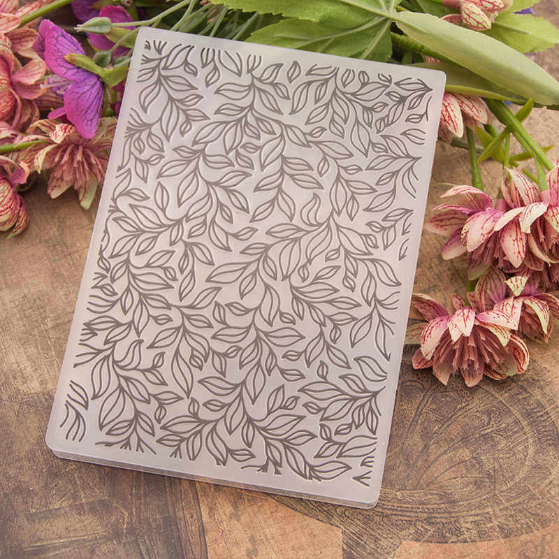 Leaf  Flower DIY Plastic Embossing Folders for Scrapbooking Card Making Paper Crafting