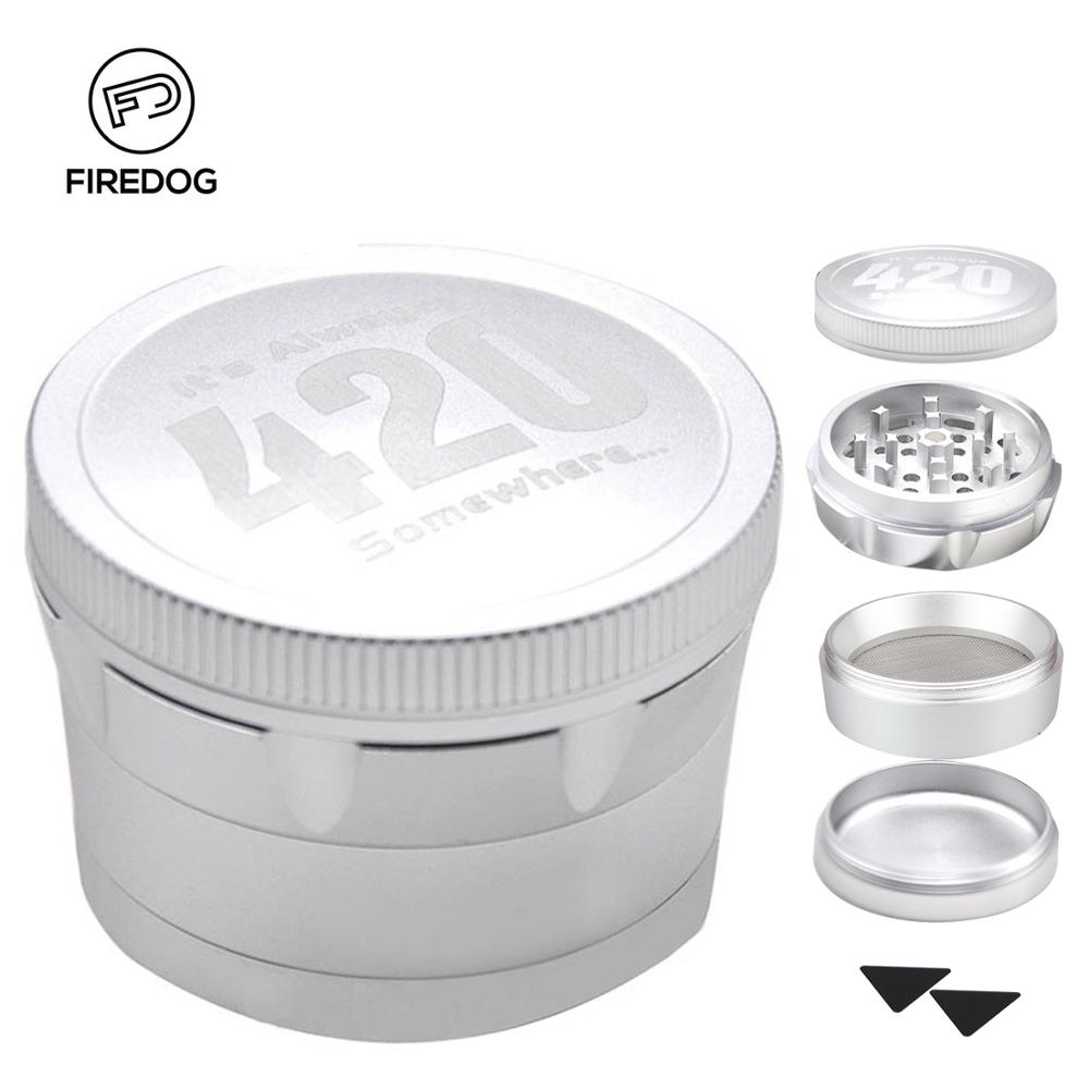 5c3767f97 FIREDOG Smoking Grinder 63mm Aluminum Alloy Herb Grinder for Weed Cigarette  Tobacco Spice 4 Piece Herbal Crusher Grinder Tool