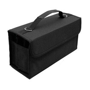Image 1 - PPYY NEW 80 sloty o dużej pojemności składane marker Case pisaki artystyczne przechowywanie torba do przenoszenia trwałe narzędzia do szkicowania organizator