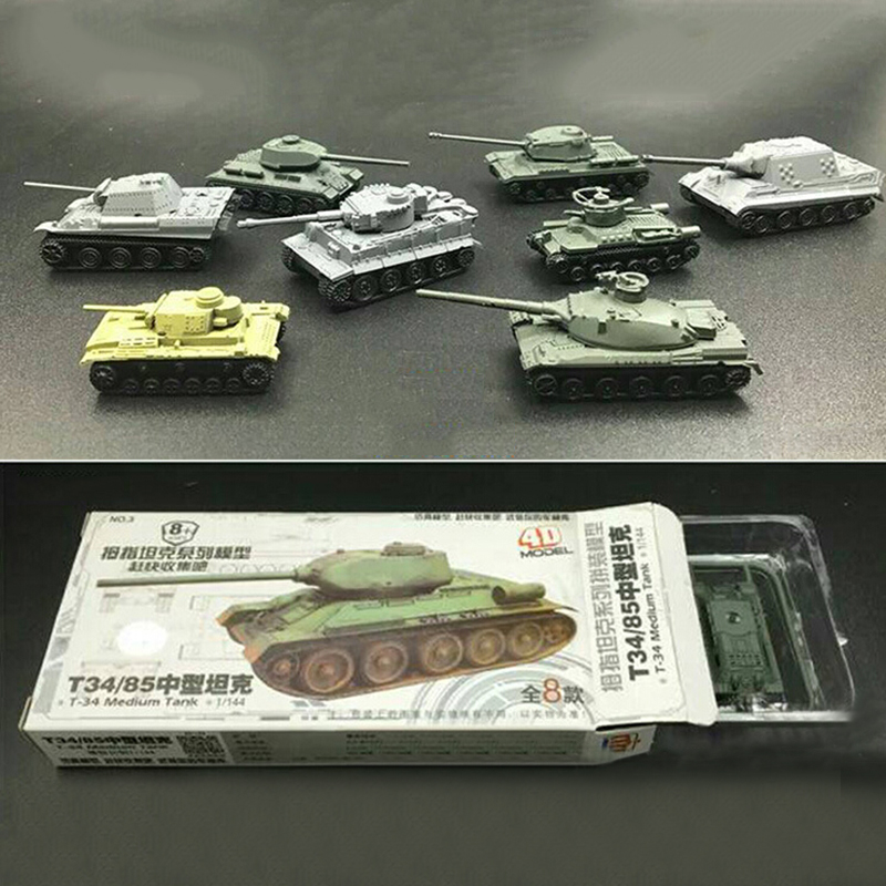 8pcs Set Assembly Military Heavy Tank Model Kids Toys Creative Role Play Toys