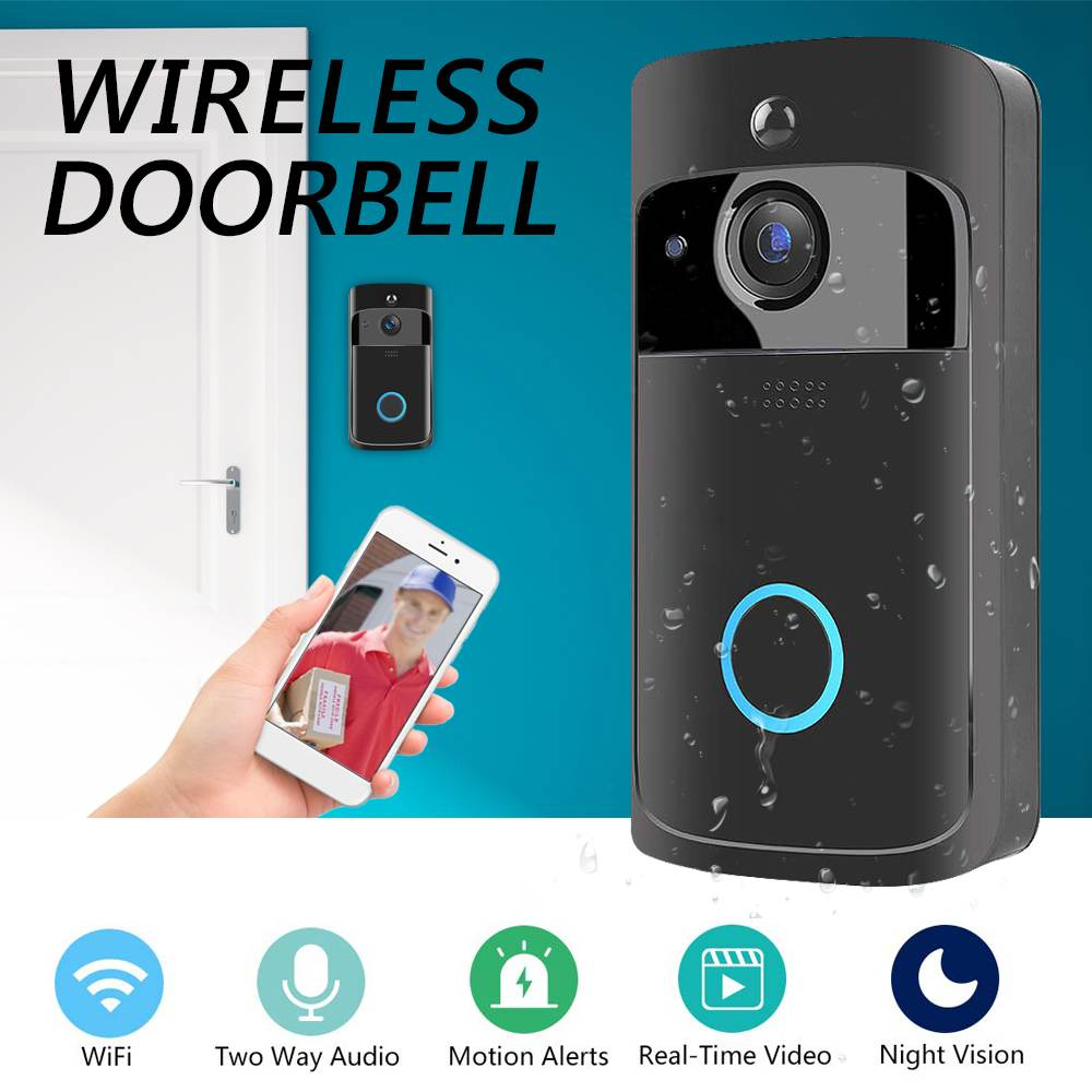 Smartphone WiFi Wireless  Video Doorbell Remote Camera 2-way Audio Home Security RainproofSmartphone WiFi Wireless  Video Doorbell Remote Camera 2-way Audio Home Security Rainproof