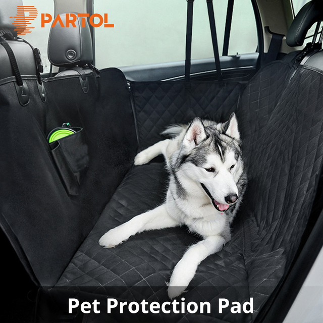 Partol Car Seat Covers Pet Carriers Cat Dog Protection Pad Waterproof Back