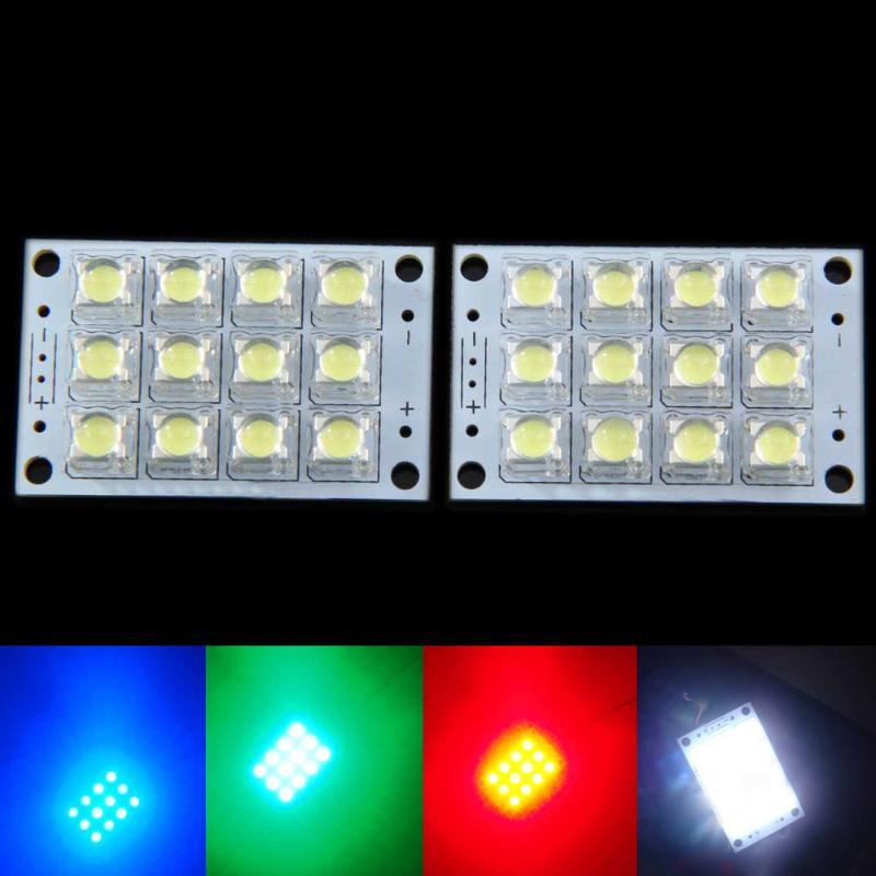 2 Pcs Super Bright 5V 12 LED Panel Board Lamp Lighting LED Chip Board Light