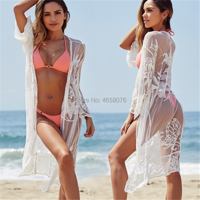 Lace Beach Cover up Bathing suit for Women Tunics for Beach Cover up Robe de Plage Bikini Cover up Saida de Praia