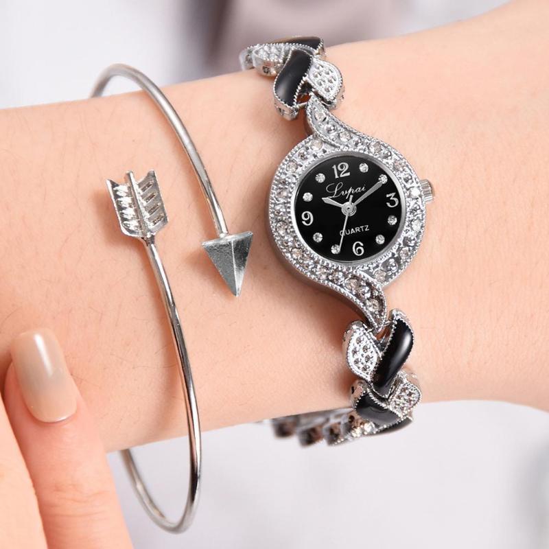 Lvpai Women Watches Bracelet Quartz Watch Luxury Alloy Diamond Female Clock Gift Elegant Relogio Feminino Bayan Kol Saati