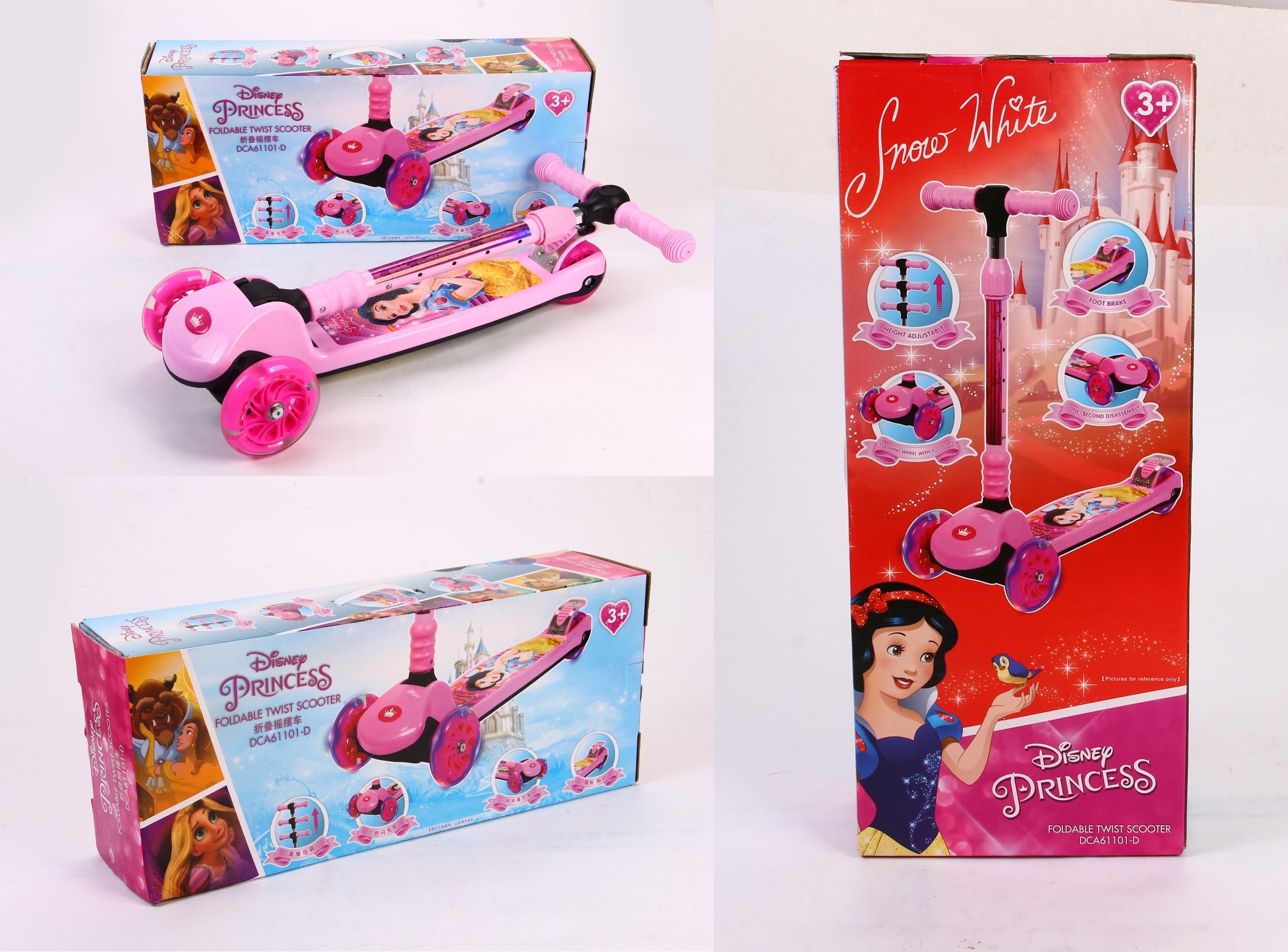 Trottinette 3 roues hauteur réglable roues en polyuréthane trottinette pliante pour enfants de 3 à 10 ans