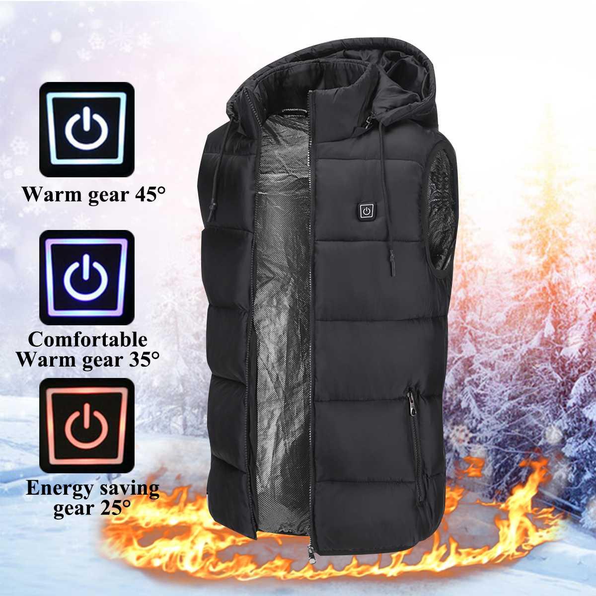 Unisex Thermische 2018 Heizung Elektrische Beheizte Weste Neue Farben 5 V USB Winter Warm Mit Kapuze Jacke Hut Kleidung Temp Control weste