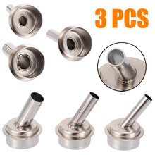 3pcs 45 Degree Bent Curved Heat Nozzle 6/7/9mm Hot air Gun Nozzles for QUICK 861DW Soldering Station