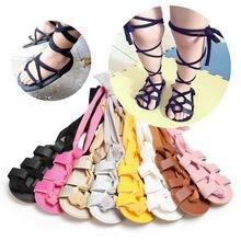 Новинка; Всесезонная обувь для новорожденных; для маленьких девочек; кожаный бондаж с перекрестной шнуровкой; сандалии; Новинка года; стильная обувь