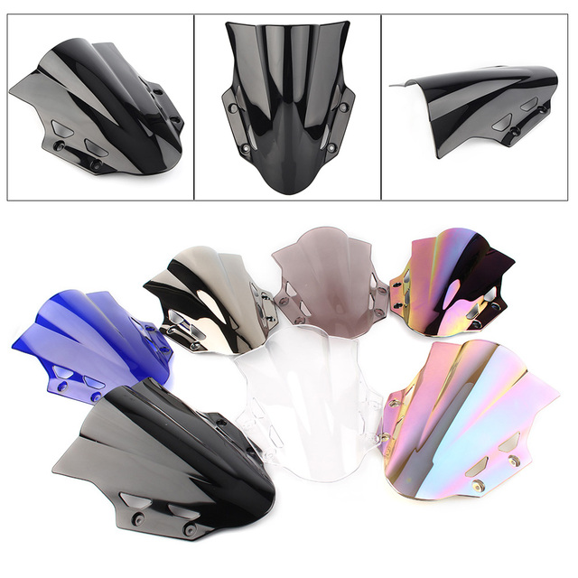 GSX250R 2018 Windshield Windscreen Double Bubble for Suzuki GSXR 250 2017 2018 Motorcycle Accessories ABS Plastic