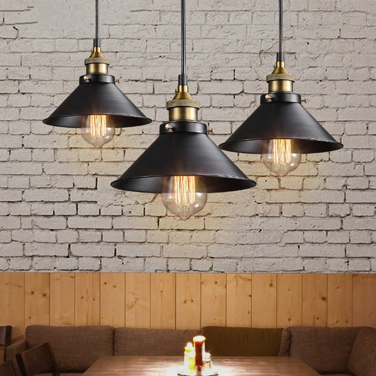 Modern Pendant Light Retro Iron Pendant Lamp Loft Industrial Lamp Hanging Light For Kitchen Cafe Home Decor Lighting