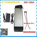 Электрический велосипед батареи 24v 12ah 350W 24 V 12AH серебряные рыбы батареи 15A BMS с 2A Зарядное устройство дно разряда Бесплатная таможенный сбор