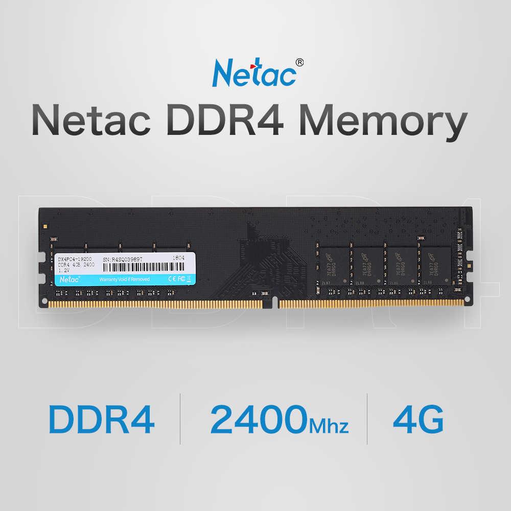 Netac DDR4 الذاكرة 4 جيجابايت 2400 ميجا هرتز MT/s 1.2 فولت PC4-19200 UDIMM 288-دبوس DDR4 2400 4 جرام 288pin DDR4-2400MHz لسطح المكتب جهاز كمبيوتر شخصي