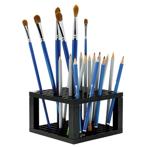 Image 3 - Многофункциональные держатели для ручек, Коробка Для Хранения ручек с 96 отверстиями, чехол для карандашей, настольный органайзер, офисные принадлежности