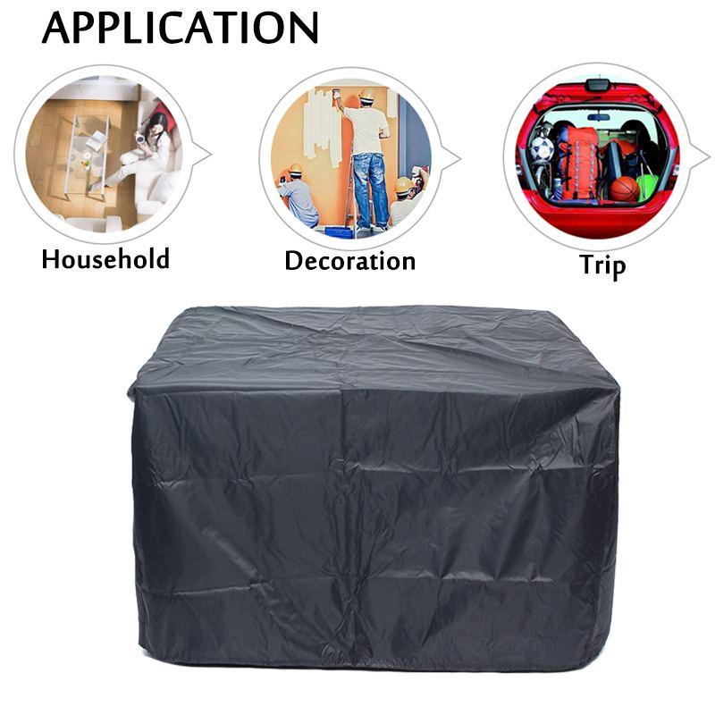 5 Size Outdoor Garden Furniture Cover Waterproof Oxford Fabric Sofa Protection Set Patio Wind Rain Snow BBQ Dustproof UV Black