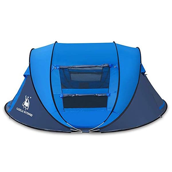 HUILINGYANG 190 T tentes en Polyester imperméable à l'eau rapide tente d'ouverture automatique 3-4 personnes Camping randonnée fournitures de plein air - 6
