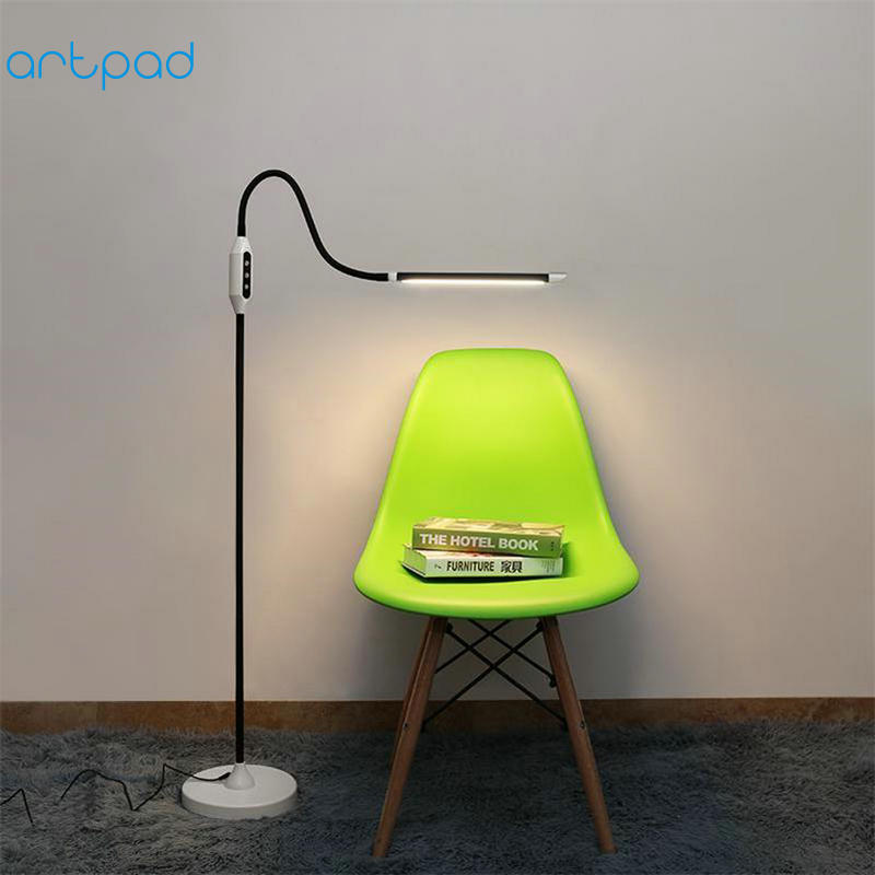 10W Chinese Floor Lamp Standing with Wireless Remote Control 5 Light Color Modes and 5 Brightness