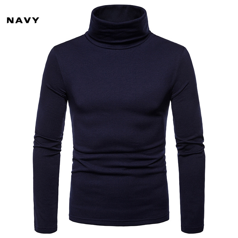 Men/'s T-shirt Long Sleeve Cotton Top Slim Pullover Thick Warm Pocket Tee S-2XL