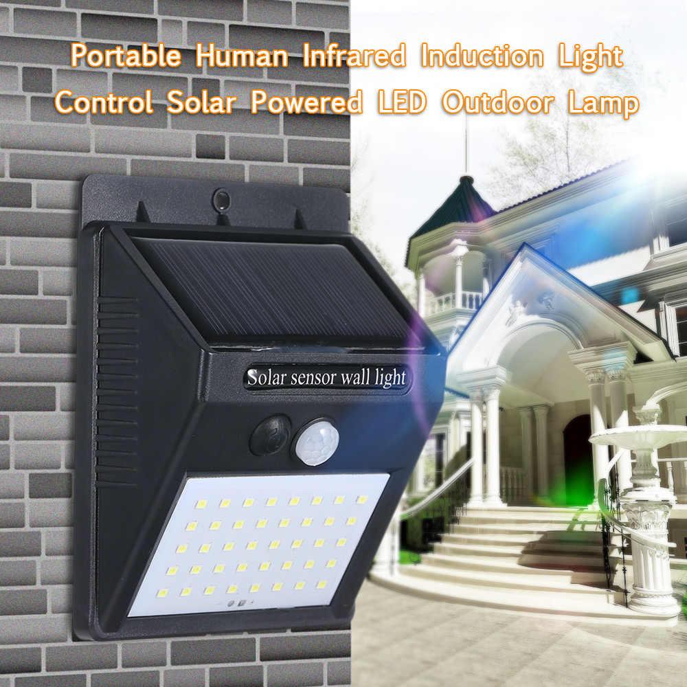 Садовый фонарь на солнечной батарее 8 Вт 40 светодиодный солнечной энергии настенный светильник движения PIR Сенсор инфракрасный человеческого индукции IP65 внутренний двор