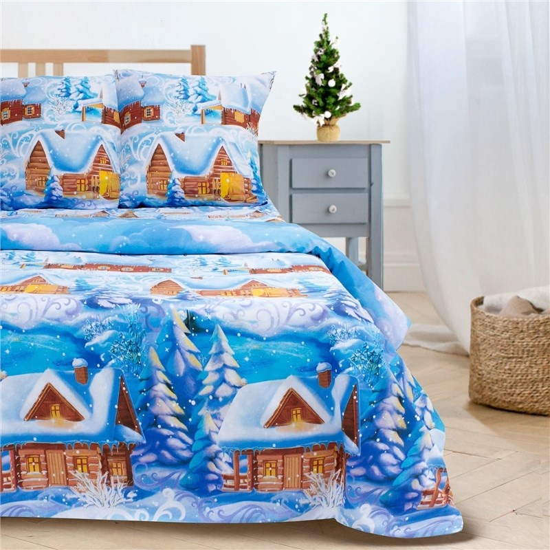 Bed Linen Ethel Euro Russian village 200*217 cm, 220*240 cm, 70*70 cm-2 pcs, 100% chl... calico tied v back ruffle hem calico top