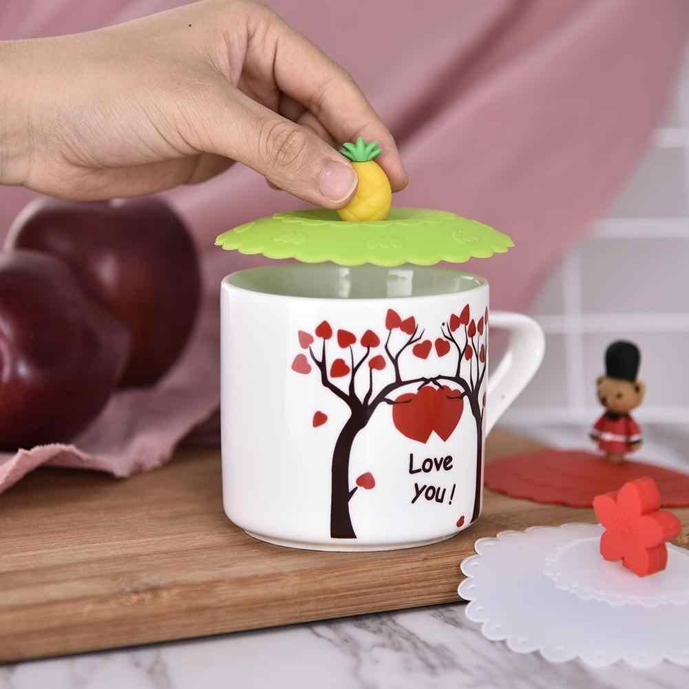 Силиконовый чехол чашки чашка для питья воды крышкой милый ананас пыле чашка с крышкой крышка чашки уплотнения Стекло кружки Кепки палочка многоразовые