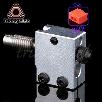 1PC Hardened Steel Volcano Nozzles Volcan heater block titanium alloy heat break TC4 for printing PEI PEEK or Carbon fiber
