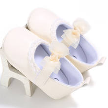 Lovely Floral Bowknot Baby Newborn Toddler Girl Crib Shoes Pram Soft Sole Prewalker Anti-slip Baby Shoes Newborn Shoes 0-18M(China)