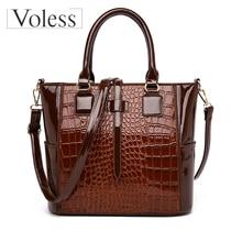 New Handbags for Women PU Leather Handbags Bags for Women Bags Designer Luxury Handbags Crocodile Lady Hand Bags Bolsa Feminina цена