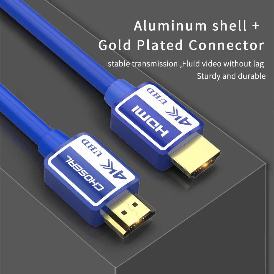 CHOSEAL HDMI кабель 2,0 высокой Скорость HDMI к HDMI кабель 4 K 1080 P 3D HDMI; Ethernet кабели для PS3 проектор компьютерный ТВ 1,5/2/3/5 M