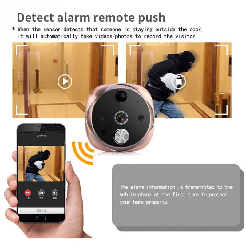 Удаленный мониторинг дверной звонок wifi умный Видимый цифровой дверной просмотрщик SN-W1