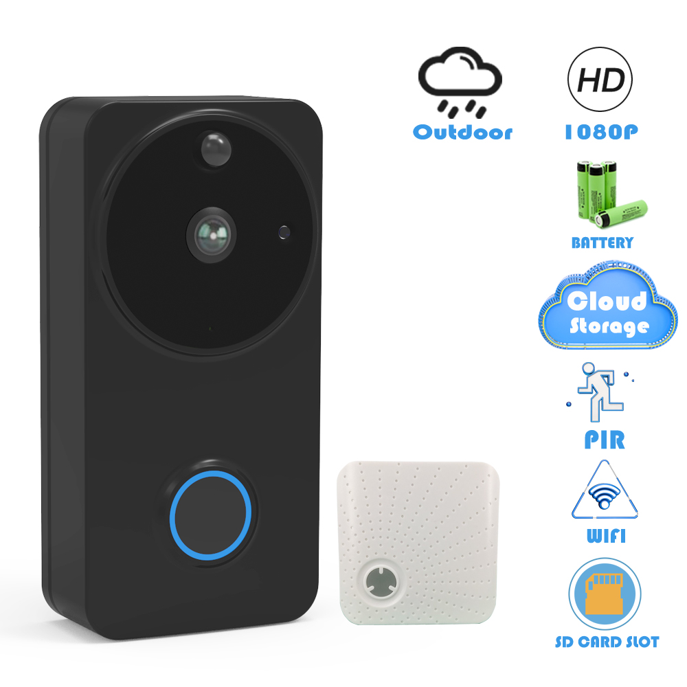 CTVMAN Doorbell Camera Wifi 1080P Smart Video Doorbells Cloud Security Intercom IP Wireless Video Call Battery Outdoor Door Bell
