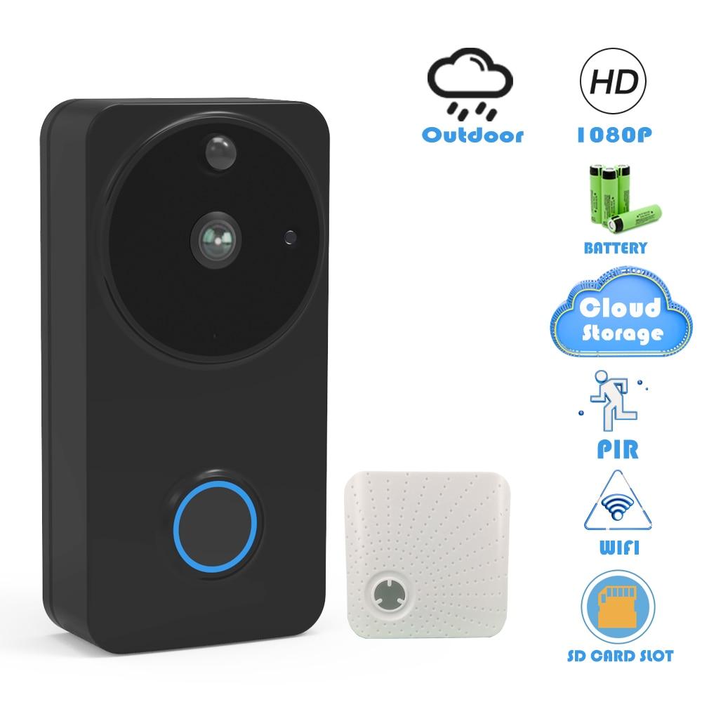CTVMAN Doorbell Camera Wifi 1080P Smart Video Doorbells Cloud Security Intercom IP Wireless Video Call Battery Outdoor Door Bell