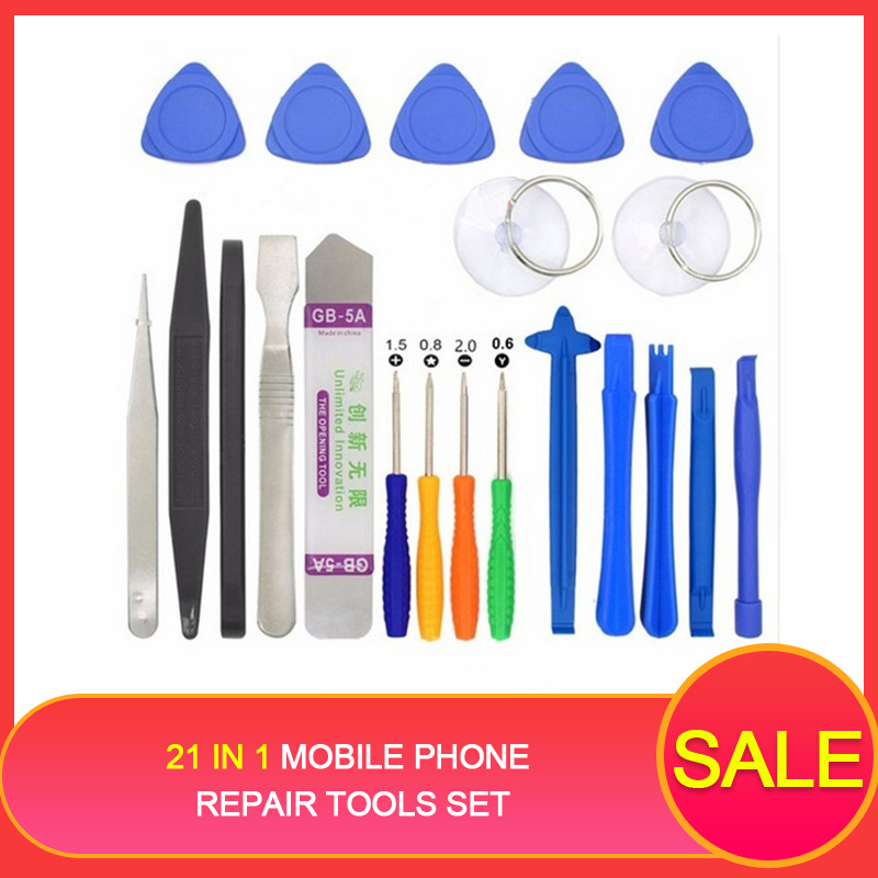 21 in1 Mobile Phone Repair Tools Set 21 pack disassemble Mini Screwdriver Bits Hand tool Kit for iphone X 8 plus for Samsung S9+(China)