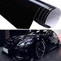 1pcs เงาเงาเคลือบเงาสีดำรถฟิล์มไวนิลรูปลอกภายนอกภายใน Refit สติกเกอร์ 59*152 ซม.กาวสติกเกอร์ GRAIN รถจัด...