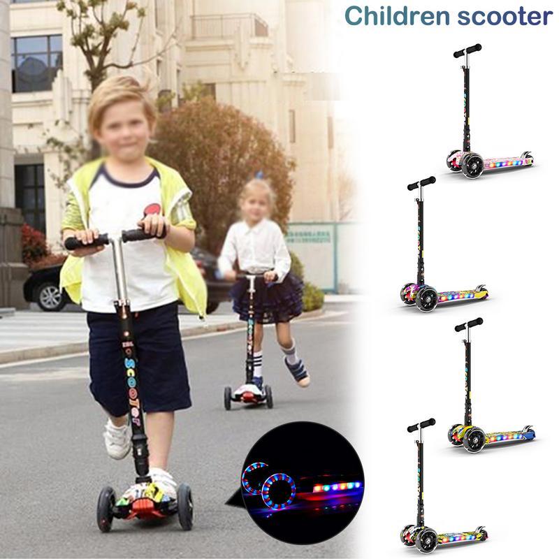 Clignotant 3 roues enfants vélos Scooter cadeau amusant exercice jouets Skate Scooter enfants coup de pied Scooter enfant