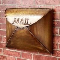 Retro Mailbox Villas Post Box European Outdoor Wall Newspaper Boxes Secure Letterbox Garden Home Decoration 36*28*6 cm A9266